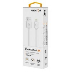 ALIGATOR Datový kabel 2A iPh lightnin 2 m bílý DAKA008
