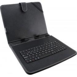 Esperanza EK123 MADERA klávesnica + puzdro pre tablet 7', USB, eko koža, čierne EK123 - 5901299904169