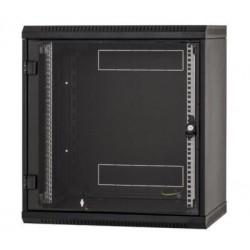 Nástěnný rack RUA 9U/600mm odn.boč+skl.dv.černý RUA-09-AS6-BAX-A1