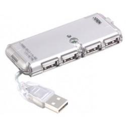 PremiumCord USB 2.0 HUB 4-portový bez napájení ku2hub4ws