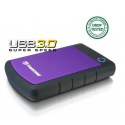 Transcend StoreJet 25H3P 500GB ext. HDD 2.5' USB 3.0, SW Elite, antishock, OTB TS500GSJ25H3P