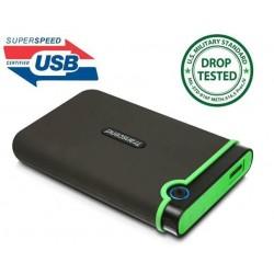 Transcend StoreJet 25M3 1TB ext. HDD 2.5' USB 3.0, SW Elite, anti-shock, čierny TS1TSJ25M3