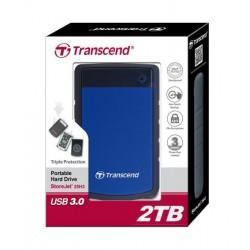 Transcend StoreJet 25H3B 2TB ext. HDD 2.5 ' USB 3.0, SW Elite, antishock, OTB TS2TSJ25H3B