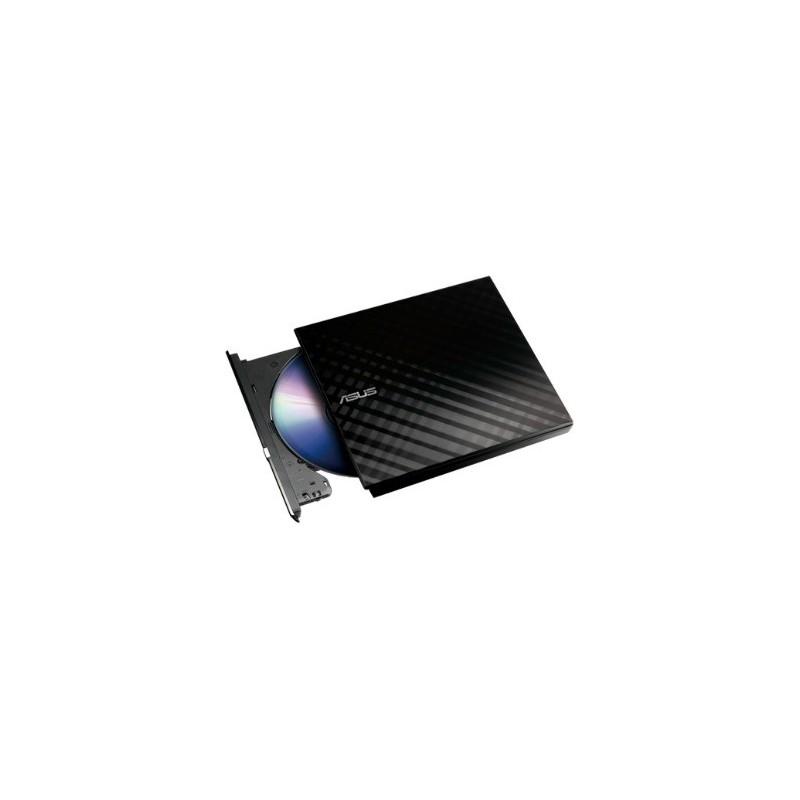 ASUS DVD-/+RW 8x, čierna, externá, USB 2.0, Retail SDRW-08D2S-U LITE/BLK/G/AS
