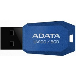 ADATA DashDrive™ Series UV100 8GB USB 2.0 flashdisk, slim, modrý AUV100-8G-RBL