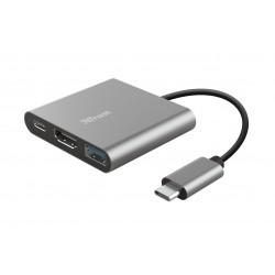 TRUST DALYX 3-IN-1 USB-C ADAPTER 23772