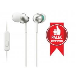 SONY sluchátka MDR-EX110AP, handsfree, bílé MDREX110APW.CE7