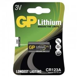 Lithiová baterie GP CR123A - 1ks 1022000111