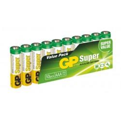GP Super Alkaline 10ks AAA 1013100102