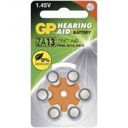 Baterie do naslouchadel GP ZA13 - 6ks 1044001316