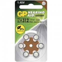 Baterie do naslouchadel GP ZA312 - 6ks 1044031216
