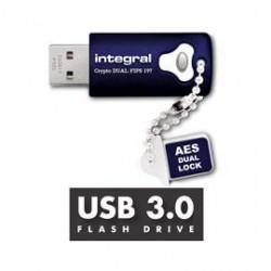 Integral USB 8GB CRYPTO DUAL DUAL USB3.0 FIPS197 INFD8GCRYDL3.0197