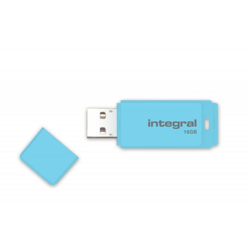 INTEGRAL Pastel 16GB USB 2.0 flashdisk, Blue Sky INFD16GBPASBLS