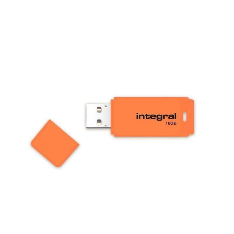 INTEGRAL Neon 16GB USB 2.0 flashdisk, oranžový INFD16GBNEONOR
