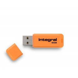 INTEGRAL Neon 8GB USB 2.0 flashdisk, oranžový INFD8GBNEONOR