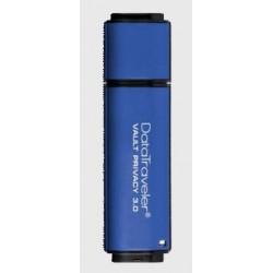Kingston DataTraveler Vault Privacy 3.0 8GB USB 256bit AES plné šifrování,hliník DTVP30/8GB