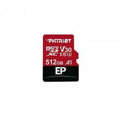 512GB microSDXC Patriot V30 A1, class 10 U3 100/80MB/s + adapter...