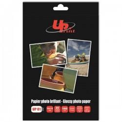 UPrint Glossy photopaper, foto papier, lesklý, biely, 10x15cm,...