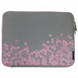 """Obal na notebook 12,1"""", Graphic, šedo-ružový z neoprénu, Logo..."""