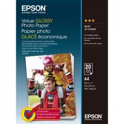 Epson Value Glossy Photo Paper, foto papier, lesklý, biely, A4, 183...