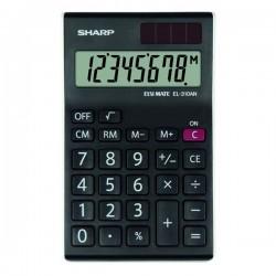 Sharp Kalkulačka EL-310ANWH, čierno-biela, stolová, osemmiestna...