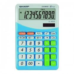 Sharp Kalkulačka EL-M332BBL, bielo-modrá, stolová, desaťmiestna...