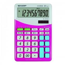 Sharp Kalkulačka EL-M332BPK, ružovo-biela, stolová, desaťmiestna...