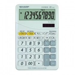 Sharp Kalkulačka EL-M332BWH, biela, stolová, desaťmiestna ELM332BWH