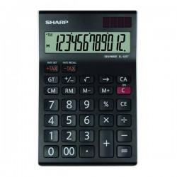 Sharp Kalkulačka EL-125TWH, čierno-biela, stolová, dvanásťmiestna...