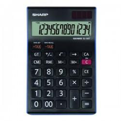 Sharp Kalkulačka EL-145TBL, čierno-modrá, stolová, štrnásťmiestna...
