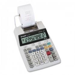 Sharp Kalkulačka EL-1750V, biela, stolová s tlačou, dvanásťmiestna,...