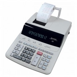 Sharp Kalkulačka CS-2635RHGYSE, biela, stolová s tlačou,...