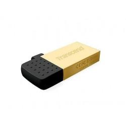 Transcend Jetflash 380G OTG USB 2.0 flashdisk 16GB, USB + micro USB, zlatý TS16GJF380G