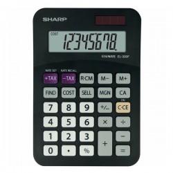 Sharp Kalkulačka EL-330FBBK, čierna, stolová, osemmiestna EL330FBBK