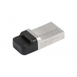 Transcend JetFlash 880 OTG flashdisk USB 3.0 64GB,USB + micro USB,kov,strieborný TS64GJF880S