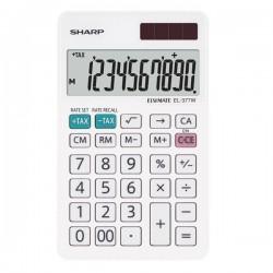 Sharp Kalkulačka EL-377W, biela, stolová, desaťmiestna EL377W
