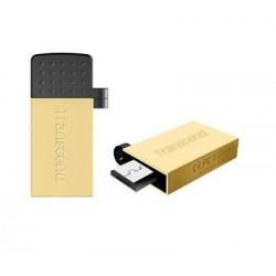 Transcend Jetflash 380G OTG flashdisk USB 2.0 32GB, USB + micro USB, zlaty TS32GJF380G