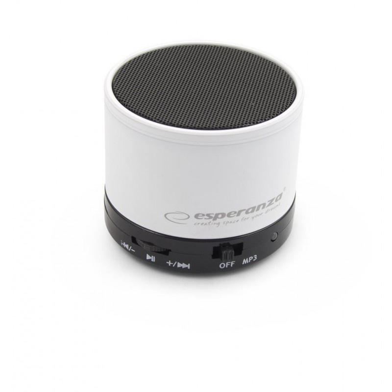 Esperanza EP115W RITMO Bluetooth reproduktor, biely EP115W - 5901299909195