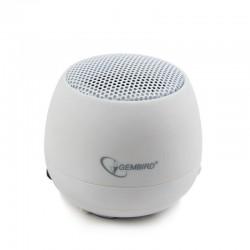Gembird prenosné reproduktory (iPod, MP3 prehrávač, telefón, laptop), biele SPK-103-W