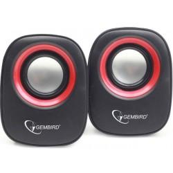 Gembird stereo reproduktor SPK-107A, čierno-červený