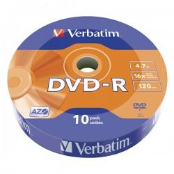 Verbatim DVD-R, 43729, DataLife, 10-pack, 4.7GB, 16x, 12cm, Matt...