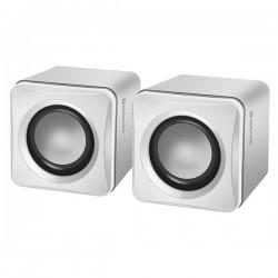 Defender reproduktory SPK-33, 2.0, 5W, biele, kompaktná veľkosť,...