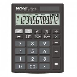 Sencor Kalkulačka SEC 333 T, čierna, stolová, dvanásťmiestna,...
