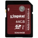 KINGSTON SDXC card 64GB Class10 UHS-I U3 SDA3/64GB