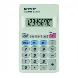 Sharp Kalkulačka EL-233S, biela, vrecková, osemmiestna EL233S