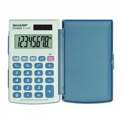 Sharp Kalkulačka EL-243S, šedo-modrá, vrecková, osemmiestna EL243S
