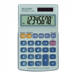 Sharp Kalkulačka EL-250S, šedo-modrá, vrecková, osemmiestna EL250S