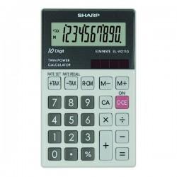 Sharp Kalkulačka EL-W211GGY, šedá, vrecková, desaťmiestna ELW211GGY