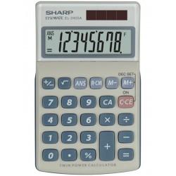 Sharp Kalkulačka EL-240SA, strieborná, vrecková, osemmiestna EL240SA