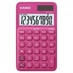 Casio Kalkulačka SL 310 UC RD, tmavo ružová, desaťmiestna, duálne...